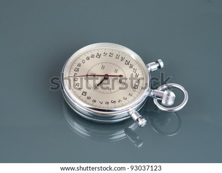 STOPWATCH on a gray background