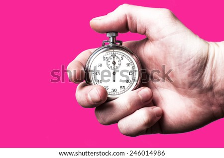 Stopwatch pink - stock photo