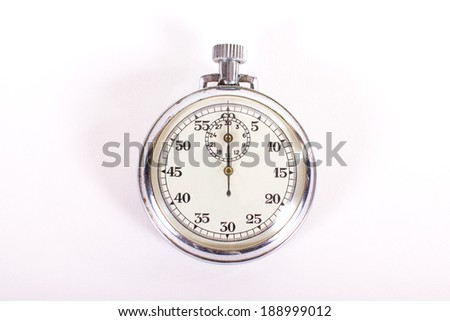 stopwatch ready to start measuring time