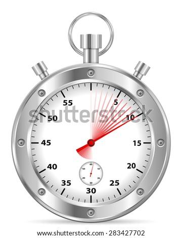 stopwatch ten seconds illustration. - stock photo