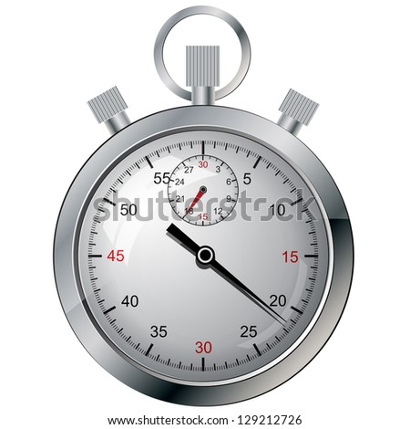 Stopwatch. The electronic device. illustration.
