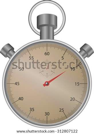 Stopwatch. Timer clock, speed watch icon or symbol, object countdown illustration - stock photo