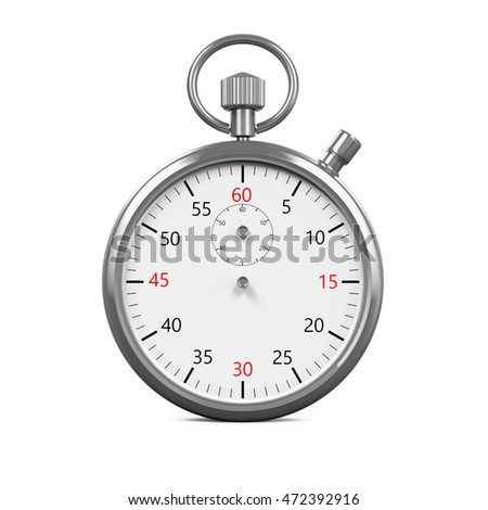 Stopwatch Timer Isolated. 3D rendering