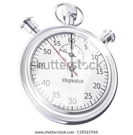 StopWath3D illustration of a simple objects for use in presentations, manuals, design, etc. - stock photo