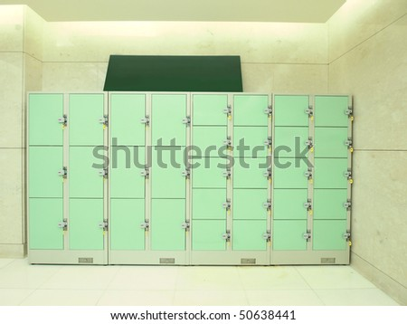 Storage area and lockers - stock photo