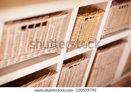 storage baskets - stock photo