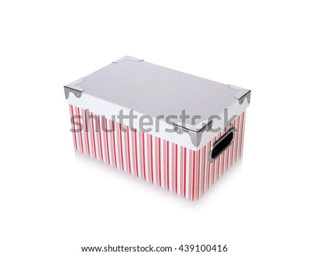 Storage box isolated on the white background - stock photo
