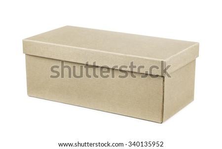 Storage box isolated on white - stock photo