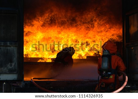 Storage Container On Fire Fire Rescue Stock Photo Royalty Free