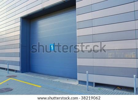 storage gate - stock photo
