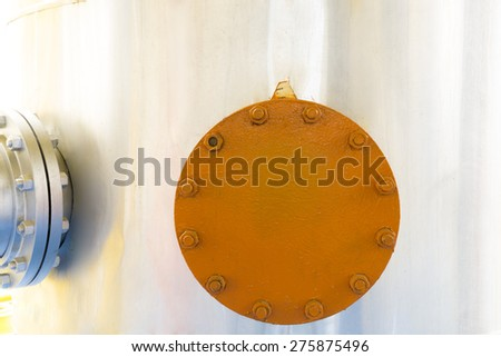 Storage of Gas and Liquids, Door Chemical Plant - stock photo