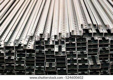 Storage of iron and steel materials.