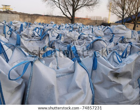 storage of waste and material in big bags
