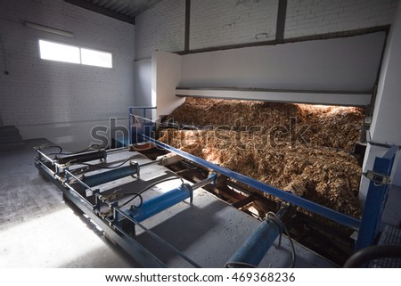 Storage of wood chips
