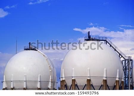 Storage Tank - stock photo