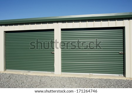 Storage units at a rental facility.