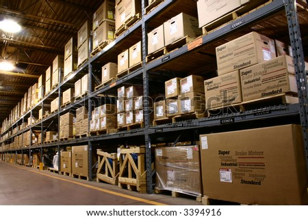 Storage Warehouse - stock photo