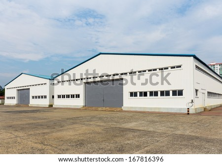 Storage warehouse at outdoor