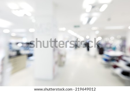 store blur background - stock photo
