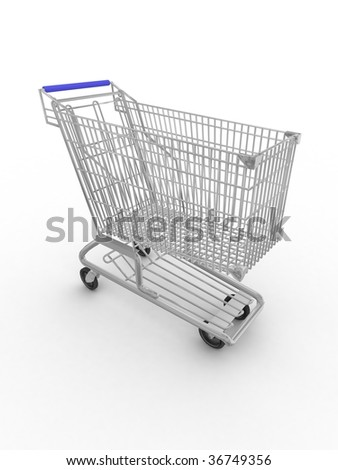store cart on a white background