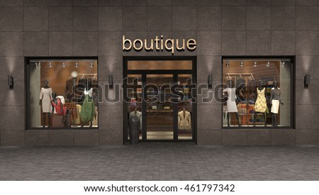 store exterior, 3d illustration