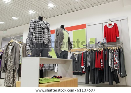 store interior - stock photo