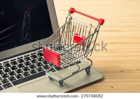 Store. Online shopping concept - stock photo