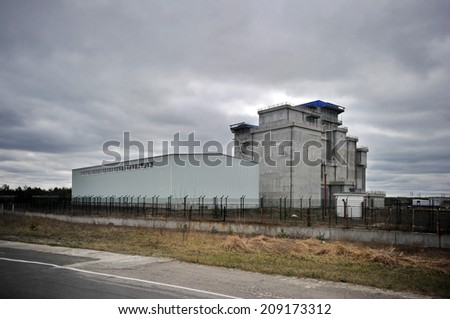 store radioactive waste at the Chernobyl nuclear power plant - stock photo