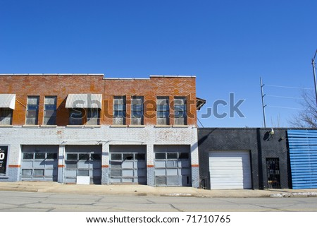 Storefront Business Garage - stock photo
