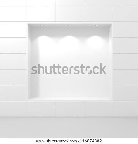 Storefront of Luxury Boutique - 3d illustration - stock photo