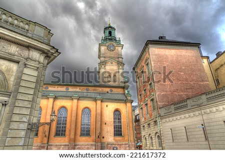 Storkyrkan cathedral,the Great Church, Stockholm,Sweden