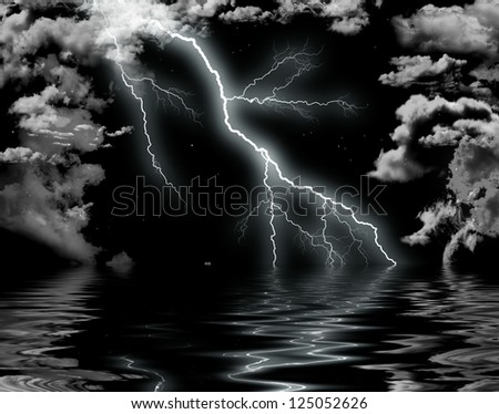 Storm at the sea