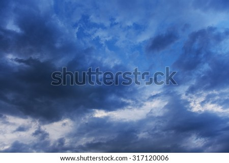 storm clouds are in sky - stock photo