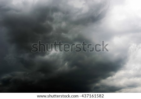 storm clouds before rain