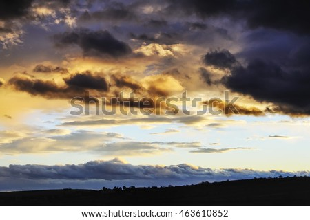 Storm clouds in the evening sky