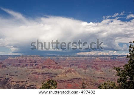 Storm clouds near the Grand Canyon - stock photo