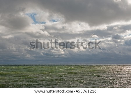 Storm in the Baltic sea - stock photo