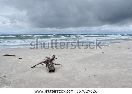 Storm on Baltic Sea - stock photo