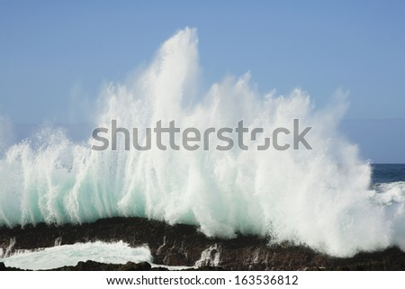 Storm's River Mouth, Coastline, South Africa - stock photo