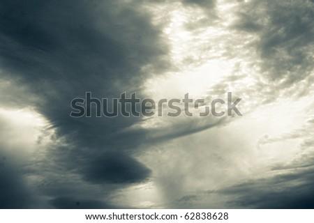 Storm sky - stock photo