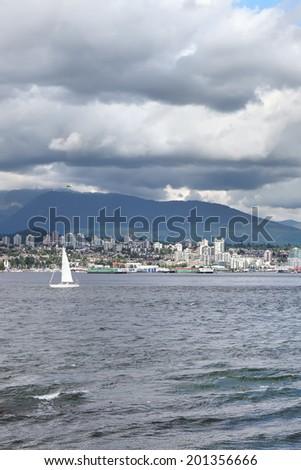 Storm sky over Vancouver (British Columbia. Canada) - stock photo