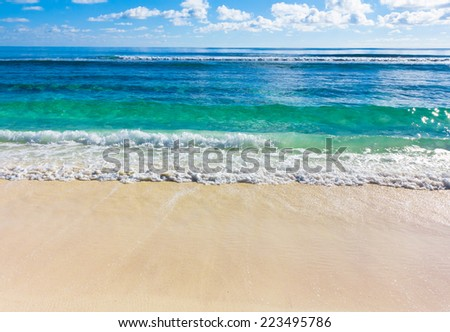 Storm Tide Beach  - stock photo