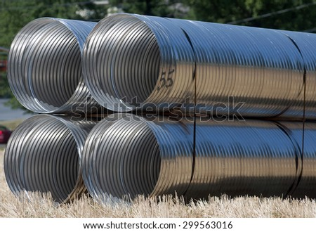 Storm water pipes - stock photo
