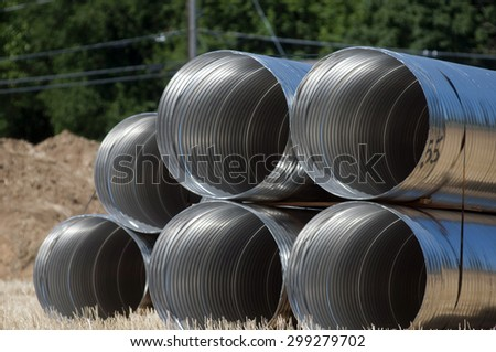Stormwater pipes - stock photo