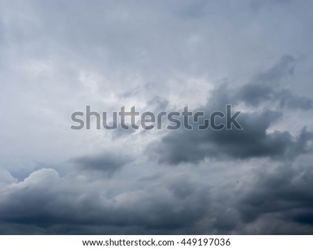 Stormy Cloud in the sky before rain, cloudy, dark sky, rain is coming. - stock photo