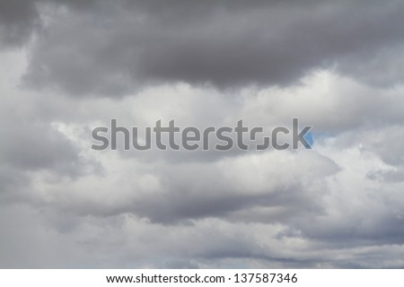 Stormy clouds for a background - stock photo