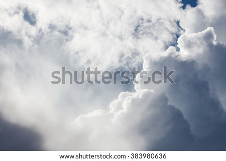 Stormy clouds on the sky - stock photo