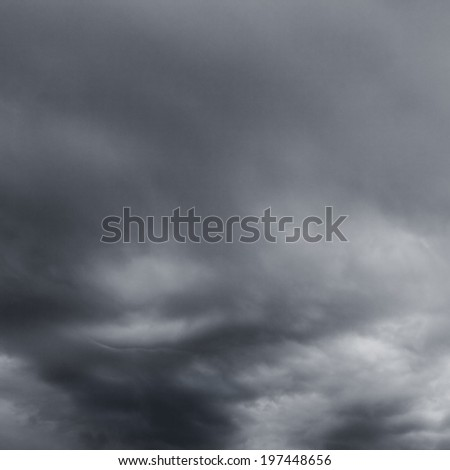Stormy clouds over horizon. - stock photo