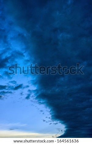 Stormy front moving in with winter storm advisory, Webster County, West Virginia, USA - stock photo