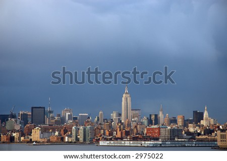 Stormy NYC Afternoon - stock photo